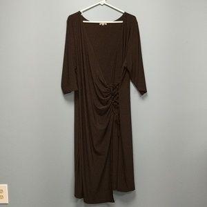 Kiyonna Black Wrap Dress, size 2X